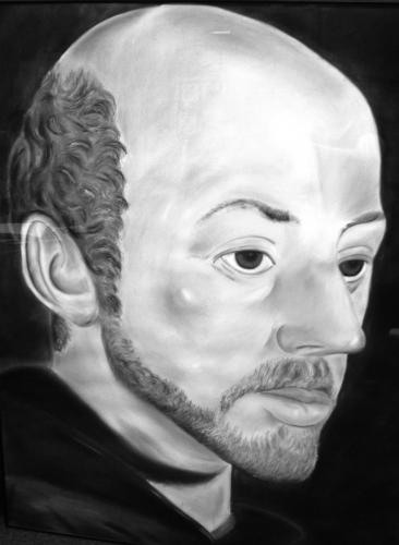 Portrait of St. Ignatius of Loyola, drawn by S.I. graduate Nathan Zielke