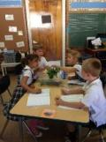 1st Grade measuring from Plants Lab