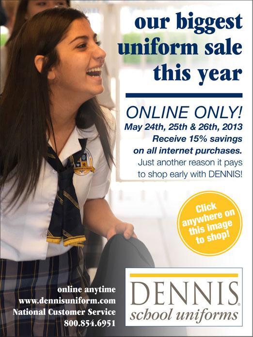 Dennis Uniform Sale - St  Ignatius Parish School