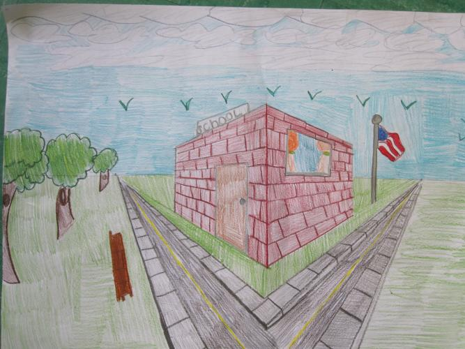 5th a two point perspective drawing 6th